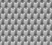 O teste padrão branco sem emenda do fundo do sumário 3d feito do tubo estranho objeta Imagem de Stock