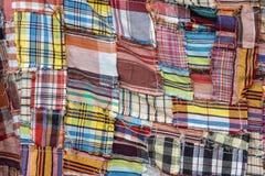 O teste padrão colorido do pano tailandês Imagem de Stock
