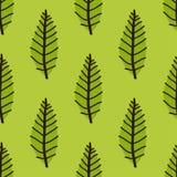 O teste padrão com verde sae da árvore Fundo sem emenda da mola Ilustração do vetor Imagens de Stock Royalty Free