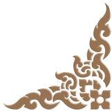 o teste padrão 3D tailandês cinzela ilustração royalty free