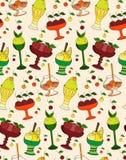O teste padrão da cor das sobremesas, do gelado e dos doces Foto de Stock