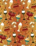 O teste padrão da cor das sobremesas, do gelado e dos doces Imagem de Stock