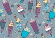 O teste padrão da cor das sobremesas, do gelado e dos doces Foto de Stock Royalty Free