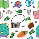 O teste padrão da ilustração de povos da coisa precisa para férias Imagem de Stock Royalty Free