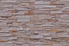 O teste padrão da parede de tijolo aplainou Fotos de Stock Royalty Free