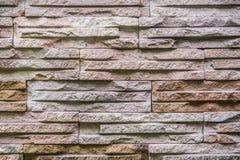 O teste padrão da parede de tijolo moderna da pedra da ardósia surgiu para o fundo Imagens de Stock
