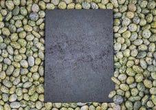 O teste padrão da pedra preta Fotos de Stock Royalty Free