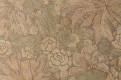 O teste padrão da tela com floral aumentou Foto de Stock Royalty Free