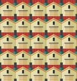 O teste padrão das casas Imagens de Stock Royalty Free