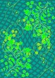 O teste padrão das flores e das folhas Imagens de Stock Royalty Free