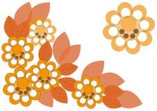 O teste padrão das flores e das folhas de outono Ilustração do Vetor