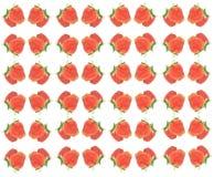 O teste padrão das morangos Fotografia de Stock Royalty Free