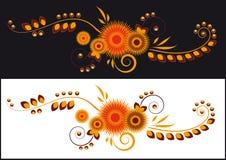 O teste padrão de flores abstratas Ilustração Royalty Free