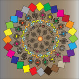 O teste padrão de formas coloridas Foto de Stock Royalty Free