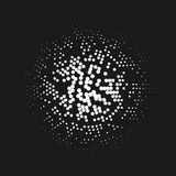 O teste padrão de intervalo mínimo abstrato gosta de luzes de uma lâmpada Fotos de Stock Royalty Free