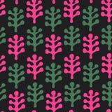 O teste padrão decorativo floral da textura com folhas decorativas abstrai o fundo à moda ilustração royalty free
