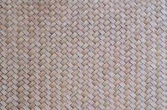 O teste padrão do bambu tailandês do estilo handcraft o fundo da textura Foto de Stock Royalty Free