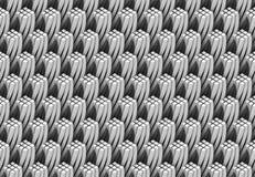 O teste padrão do branco e das colunas 3d quadrangulares torcidas que formam a torre dá forma Fotos de Stock Royalty Free