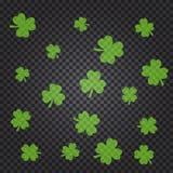 O teste padrão do dia de St Patrick s com trevo verde sae ilustração royalty free