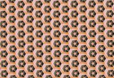 O teste padrão do favo de mel Fotografia de Stock