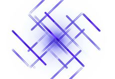 O teste padrão do fractal no branco Imagens de Stock Royalty Free