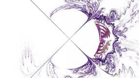 O teste padrão do fractal no branco Fotografia de Stock