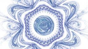 O teste padrão do fractal no branco Fotos de Stock Royalty Free