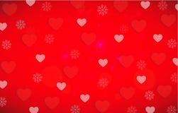 O teste padrão do fundo dos corações do dia do Valentim s com vermelho e o branco ouve-se Fotografia de Stock Royalty Free