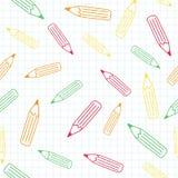 O teste padrão do lápis foto de stock royalty free