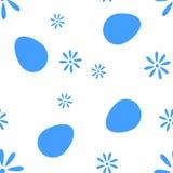 O teste padrão do pixel dos ovos e das flores ilustração royalty free