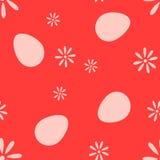 O teste padrão do pixel dos ovos e das flores ilustração stock