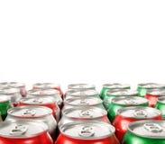 O teste padrão do refresco pode partes superiores foto de stock