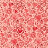 O teste padrão do Valentim com coração Imagens de Stock Royalty Free