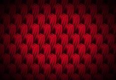 O teste padrão do vermelho e das colunas 3d quadrangulares torcidas que formam a torre dá forma Imagens de Stock