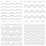 O teste padrão do vetor da telha ajustou-se com fundo branco e cinzento do ziguezague ilustração do vetor