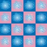 O teste padrão dos quadrados e dos hexágonos Imagem de Stock