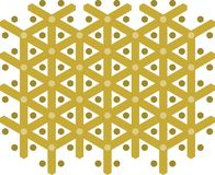 O teste padrão dourado, Y-teste padrão, X-mas, pontilha fotografia de stock
