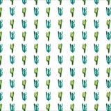 O teste padrão erval floral tropical do verde do verão de Havaí do mexicano bonito sofisticado bonito bonito brilhante de uma pin ilustração royalty free