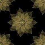 O teste padrão floral sae da colagem Fotografia de Stock