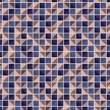 O teste padrão geométrico abstrato com quadrados de cores diferentes conectou como um mosaico Imagem de Stock Royalty Free