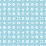 O teste padrão geométrico do vetor sem emenda com fundo infinito pastel dos círculos com a mão tirada textured figuras geométrica ilustração royalty free