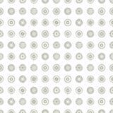 O teste padrão geométrico do vetor sem emenda com fundo infinito pastel dos círculos com a mão tirada textured figuras geométrica Fotos de Stock