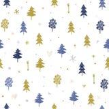 O teste padrão o mais tforest do Natal estilizado do vetor Clipart, papel de envolvimento Imagens de Stock Royalty Free