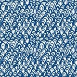 O teste padrão náutico inspirou pela pele dos peixes no azul Imagem de Stock