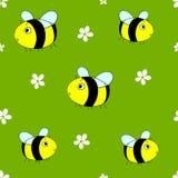 O teste padrão sem emenda bonito com desenhos animados tropeça abelhas Imagens de Stock