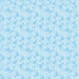 O teste padrão sem emenda com cubos de gelo molha o líquido transparente da geada da decoração ilustração do vetor