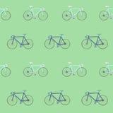 O teste padrão sem emenda com mão colorida competência tirada bikes Ilustração Stock