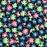 O teste padrão sem emenda consiste em flores Foto de Stock Royalty Free