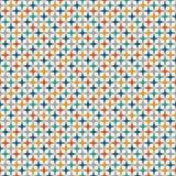 O teste padrão sem emenda das cores brilhantes com repetição estilizado stars Ornamento geométrico simples Papel digital vívido ilustração royalty free