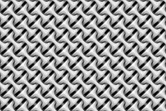O teste padrão sem emenda do branco arredondou e aninhou objetos Fotografia de Stock